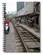Hanoi Train Tracks Spiral Notebook