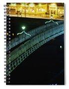 Hapenny Bridge, Dublin City, Co Dublin Spiral Notebook