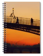 Hapenny Bridge, Dublin, Co Dublin Spiral Notebook