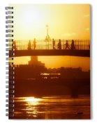 Hapenny Bridge Over River Liffey River Spiral Notebook