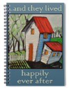 Happily Ever After White Picket Spiral Notebook