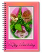 Happy Birthday Card - Foxgloves Spiral Notebook