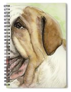 Happy Bulldog Spiral Notebook