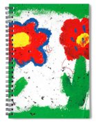 Happy Colorful Flowers Spiral Notebook