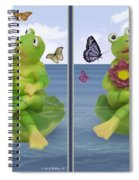 Happy Frogs - Gently Cross Your Eyes And Focus On The Middle Image Spiral Notebook