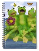 Happy Frogs Spiral Notebook