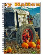Happy Halloween Card Spiral Notebook