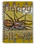 Happy Halloween Spider Greeting Card Spiral Notebook