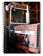 Happy Harvestor Tractor Spiral Notebook
