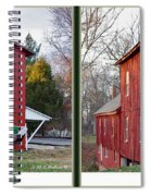 Happy Holidays - Gently Cross Your Eyes And Focus On The Middle Image Spiral Notebook
