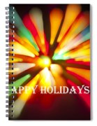 Happy Holidays Card Spiral Notebook