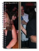 Happy New Year - Gently Cross Your Eyes And Focus On The Middle Image That Appears Spiral Notebook