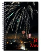Happy New Year Card Spiral Notebook