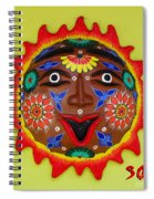 Happy Sol Face Spiral Notebook