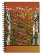 Happy Thanksgiving Birch And Maple Trees Spiral Notebook