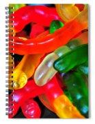 Happy Worms Spiral Notebook