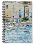 Harbor At Isle Of Capri Spiral Notebook