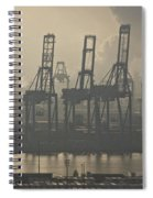 Harbor Cranes Spiral Notebook