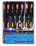 Harbor Docks Spiral Notebook