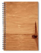 Harbor Sunset Spiral Notebook