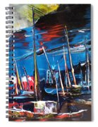 Harbour In Spain Spiral Notebook