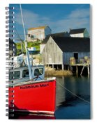 Harbour Mist In Peggy's Cove No 103 Spiral Notebook