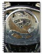 Harley Davidson Bike - Chrome Parts 44c Spiral Notebook