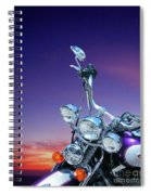 Harley Sunset Spiral Notebook
