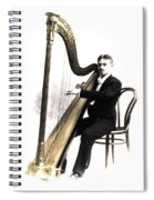 Harp Player Spiral Notebook