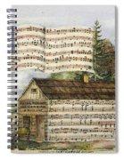 Harrisons Log Cabin March Spiral Notebook