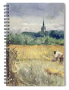 Harvest Field At Stratford Upon Avon Spiral Notebook