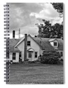 Harvest Time In Pennsylvania Monochrome Spiral Notebook