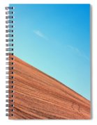 Harvested Crop Lines And Clear Skies Spiral Notebook