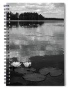 Haukkajarvi Water Lilies In Bw Spiral Notebook