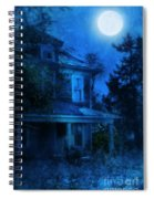 Haunted House Full Moon Spiral Notebook