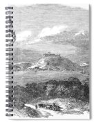 Havana, Cuba, 1851. /na View Of The Harbor And Fort Of Atares. Wood Engraving, English, 1851 Spiral Notebook