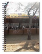 Having A Good Time When Preparing Food In A Booth In The Surajkand Mela Spiral Notebook