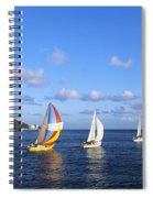 Hawaii Sailboats Spiral Notebook