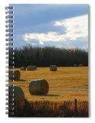 Hay Bails Spiral Notebook