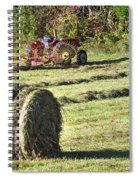 Hay Bale And Tractor Spiral Notebook