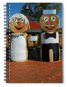 Hay Bale Wedding Spiral Notebook