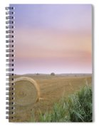 Hay Bales And Sunrise In Fog Spiral Notebook