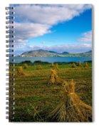 Hay Bales In A Field, Ireland Spiral Notebook