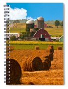 Hay Bales Leading To Barn Spiral Notebook