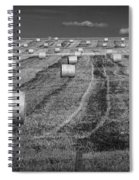 Hay Bales On A Farm In Alberta Spiral Notebook
