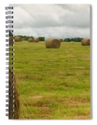 Haybales In Field On Stormy Day Spiral Notebook