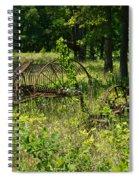Hayrake And Cutter Spiral Notebook