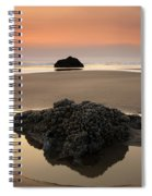 Hazy Oregon Sunset Spiral Notebook