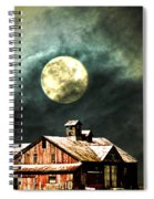 Hdr Moon And Barn Spiral Notebook