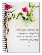 He Sings  Series Image 1 Spiral Notebook